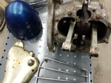 Triumph T100 500 cc moottorin alakerta, ym