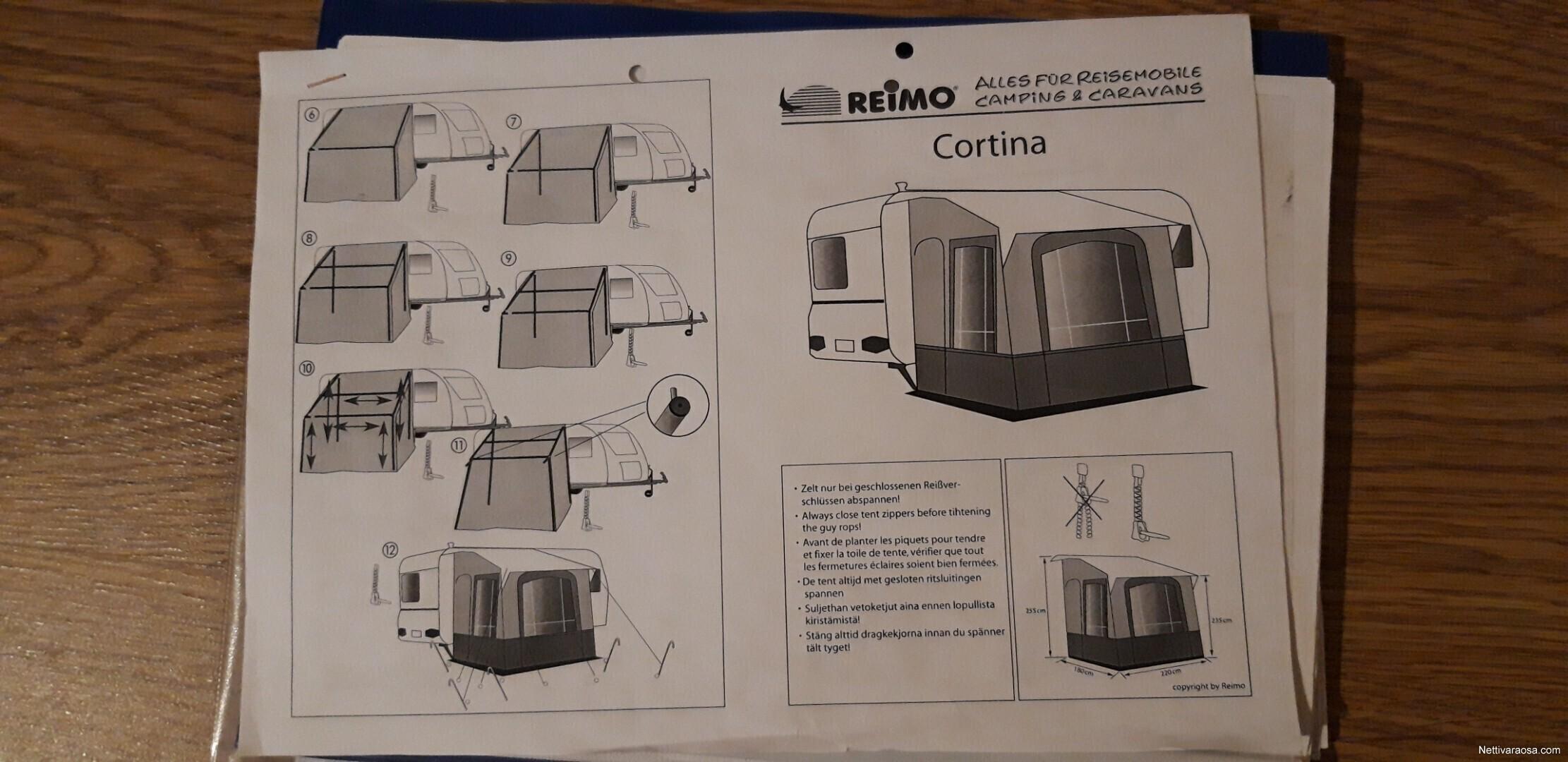 Etuteltta Reimo Cortina II talviteltta