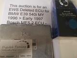 BMW 540i 96-97 540i Bosch DME ECU EWS deleted