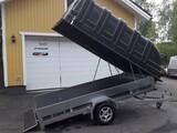 JT-TRAILER 330x150x35 musta kuomu