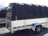 JT-TRAILER 350x150x50 kuomu musta harmaa