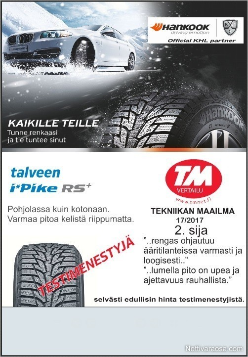 0c29aa994078 Nettivaraosa - Hankook Winter iPikeRS2 2018 - Uudet W429 205 55-16 ...