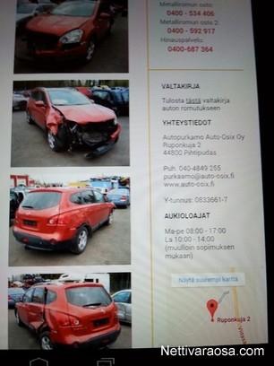 Nettivaraosa Nissan Qashgai 1 6 84kw 2009 Spare And Crash