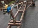 Oma valmiste Traktori vetoinen venetraileri