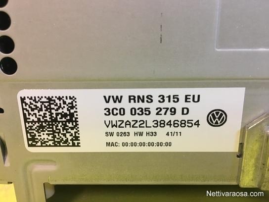 Nettivaraosa - VW RNS-315 2012 - Car HiFi and accessories